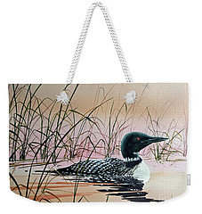 Loon Sunset Weekender Tote Bag by James Williamson