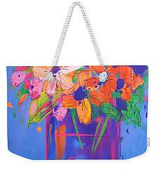 Loosey Goosey Flowers Weekender Tote Bag by Terri Einer
