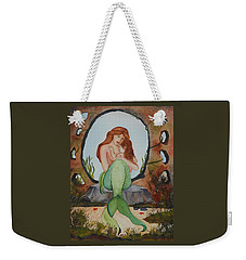 Weekender Tote Bag featuring the painting Loralie And Her Daughter by Virginia Coyle