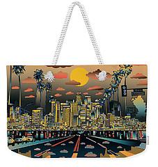 Los Angeles Skyline Abstract 2 Weekender Tote Bag