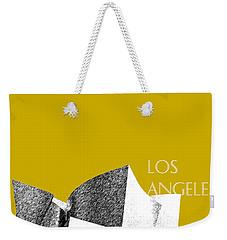 Los Angeles Skyline Disney Theater - Gold Weekender Tote Bag