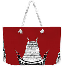 Los Angeles Skyline Graumans Chinese Theater - Dark Red Weekender Tote Bag
