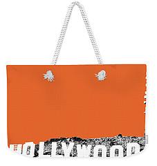 Los Angeles Skyline Hollywood - Coral Weekender Tote Bag