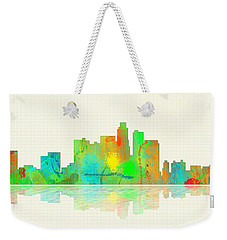 Los Angeles California Skyline Weekender Tote Bag by Marlene Watson