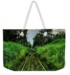Weekender Tote Bag featuring the digital art Lost And Found by Marvin Blaine