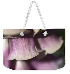 Weekender Tote Bag featuring the photograph Lost In A Foxglove by Joy Watson