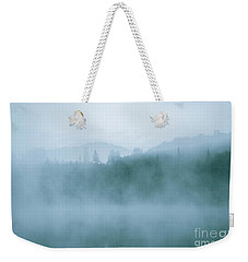 Lost In Fog Over Lake Weekender Tote Bag by Jola Martysz
