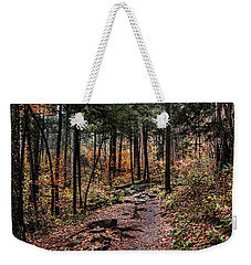 Weekender Tote Bag featuring the photograph Lost In Thought On The Blue Ridge Parkway Trail by Debbie Green