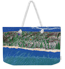 Weekender Tote Bag featuring the painting Lost Island by Kim Pate