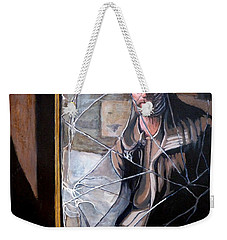 Weekender Tote Bag featuring the painting Lost by Tom Roderick