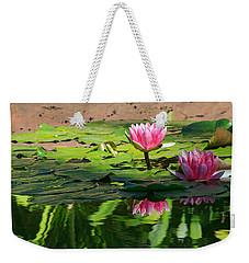 Lotus Flower Reflections Weekender Tote Bag