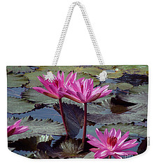 Weekender Tote Bag featuring the photograph Lotus Flower by Sergey Lukashin