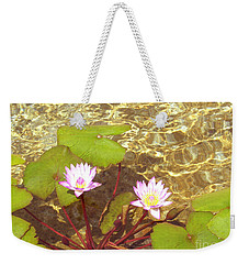 Weekender Tote Bag featuring the photograph Lotus by Mini Arora