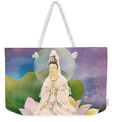 Lotus-sitting Avalokitesvara  Weekender Tote Bag