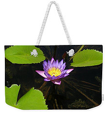 Weekender Tote Bag featuring the photograph Lotus Garden by John Glass