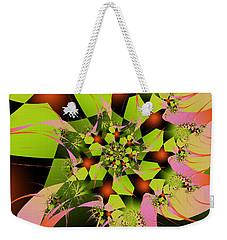Weekender Tote Bag featuring the digital art Loud Bouquet by Elizabeth McTaggart