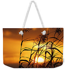 Weekender Tote Bag featuring the photograph Louisiana Marsh Sunset by Luana K Perez
