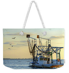 Louisiana Shrimping Weekender Tote Bag