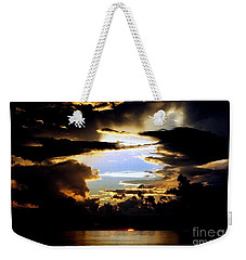 Louisiana Sunset Blue In The Gulf  Of Mexico Weekender Tote Bag