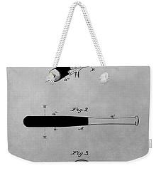 Louisville Slugger Patent Drawing Weekender Tote Bag by Dan Sproul