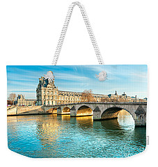 Louvre Museum And Pont Royal - Paris  Weekender Tote Bag by Luciano Mortula