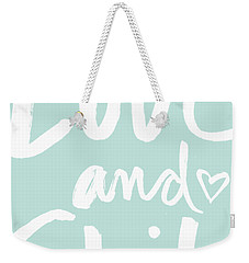 Love And Shit -greeting Card Weekender Tote Bag