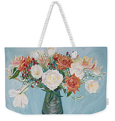 Love Bouquet In White And Orange Weekender Tote Bag