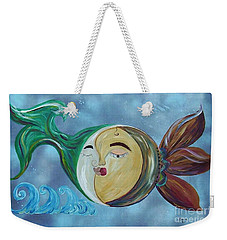 Weekender Tote Bag featuring the painting Love Connect - You Are My Moon And Sun by Eloise Schneider
