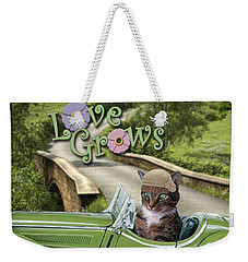 Weekender Tote Bag featuring the digital art Love Grows by Kathy Tarochione