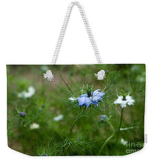 Love In A Mist Weekender Tote Bag by Liz  Alderdice