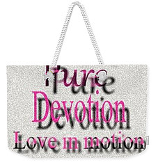 Weekender Tote Bag featuring the digital art Love In Motion by Catherine Lott