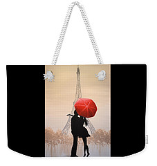 Love In Paris Weekender Tote Bag