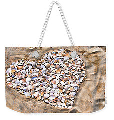Love In The Sand Weekender Tote Bag