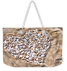 Love In The Sand Weekender Tote Bag
