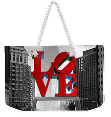 Love Is Always Black And White Square Weekender Tote Bag by Paul Ward