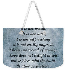 Love Is Patient Clouds Gold Leaf Weekender Tote Bag