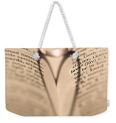 Love Weekender Tote Bag by Jan Bickerton