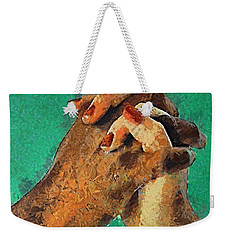 Weekender Tote Bag featuring the painting Love Knows No Differences by Dragica  Micki Fortuna