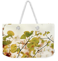 Weekender Tote Bag featuring the photograph Love Leaf by Rebecca Harman