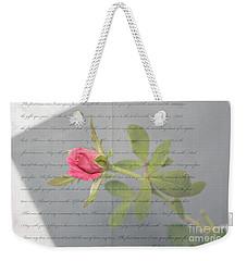Love Letter Lyrics And Rose Weekender Tote Bag