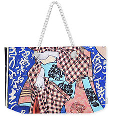 Weekender Tote Bag featuring the painting Love Letters by Tom Roderick