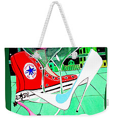 Weekender Tote Bag featuring the painting Love Night by Don Pedro De Gracia
