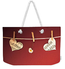 Love On The Line Weekender Tote Bag by Jan Bickerton
