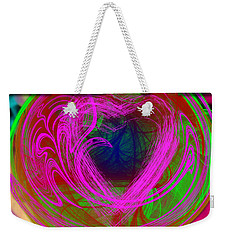 Weekender Tote Bag featuring the digital art Love Over Chaos by Clayton Bruster