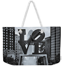 Love Park Bw Weekender Tote Bag by Susan Candelario