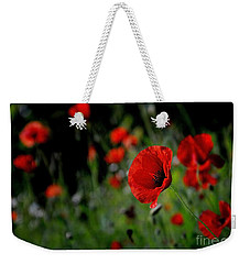Weekender Tote Bag featuring the photograph Love Red Poppies by Nava Thompson