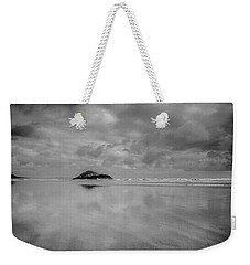 Love The Lovekin Rock At Long Beach Weekender Tote Bag by Roxann Hurtubise