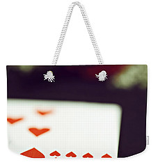 Weekender Tote Bag featuring the photograph Love Trick by Trish Mistric