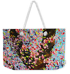 Weekender Tote Bag featuring the painting Love Wound by Meaghan Troup