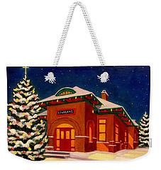 Loveland Depot At Christmas Weekender Tote Bag